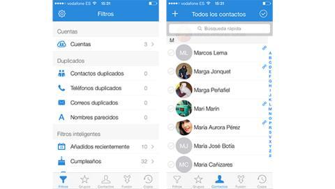 Descubre contactos duplicados en tu iPhone