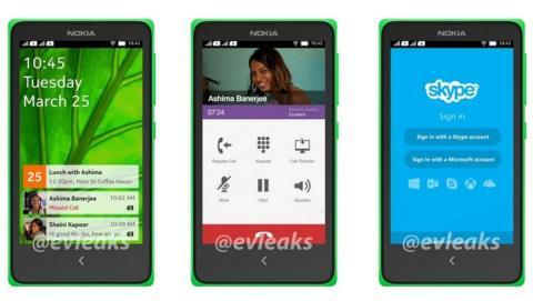 Primera imagen de la interfaz del Nokia Normandy, el primer smartphone Nokia con Android