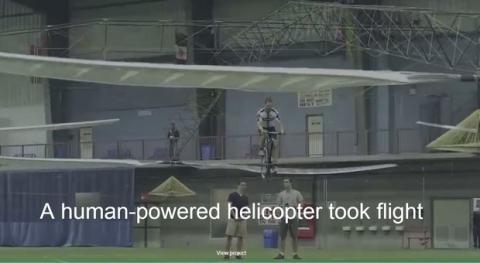 Helicóptero impulsado por humanos