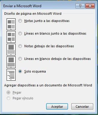 Enviar a Microsoft Word