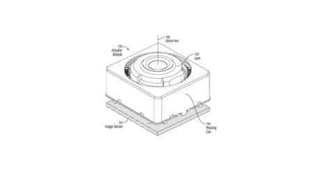 Patente Apple estabilización óptica
