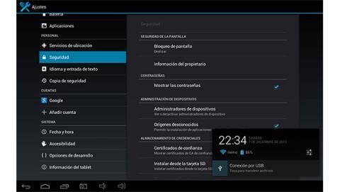 Ajustes básicos de tu tablet Android