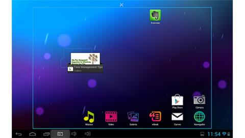 Los iconos y la Pantalla de inicio de tu tablet Android