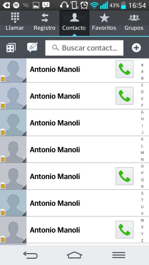 Contactos duplicados en Android