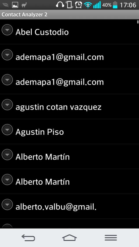 Contactos duplicados Contact Analyzer 2