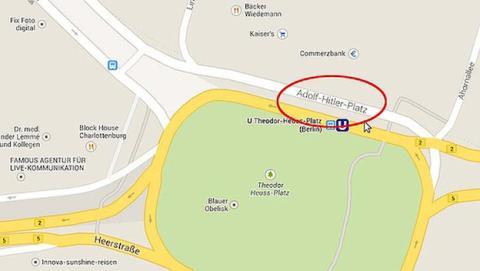 Google pone a Hitler en el mapa