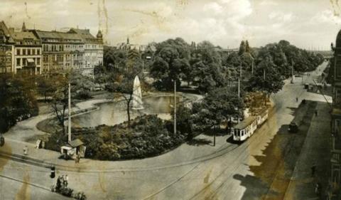 Foto de archivo de la entonces Adolf-Hitler-Platz