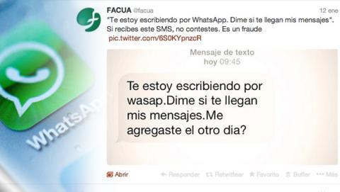 ¡Alerta! Una estafa circula a través de WhatsApp según Facua