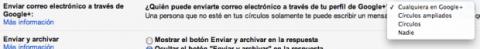 Desactivar e-mails Google Plus Gmail