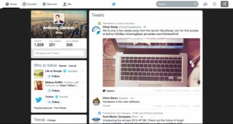 aspecto nueva página inicio Twitter