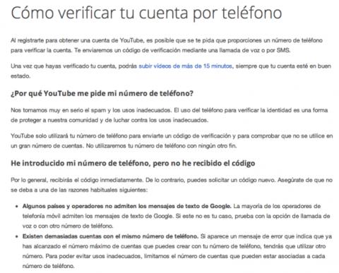 Cómo verificar tu cuenta de Youtube