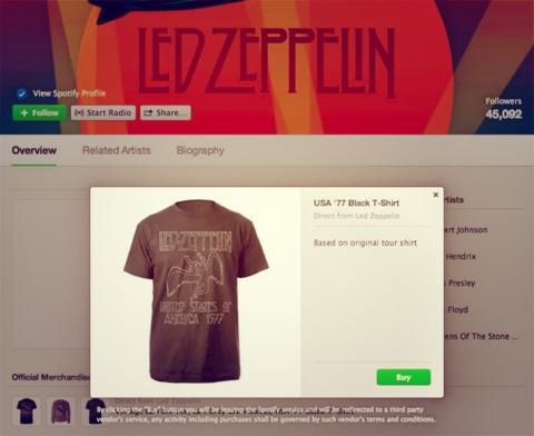 Spotify venta merchandising