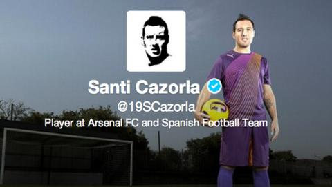 Cazorla mete la pata en Twitter al burlarse del Tottenham