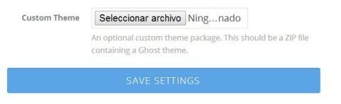 Cambia el tema predeterminado de Ghost
