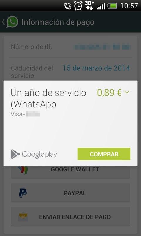 Pagar Google Wallet Whatsapp