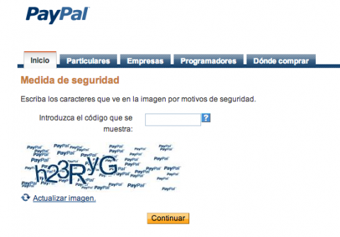 PayPal seguridad
