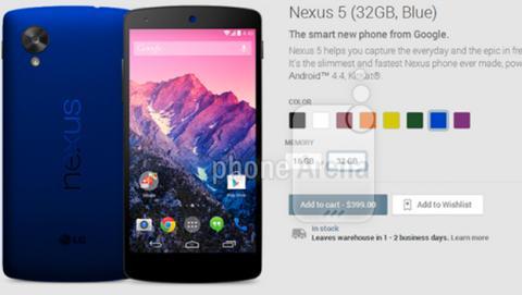 Nexus 5 azul