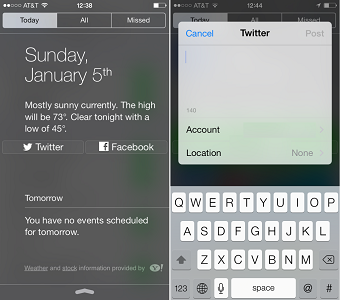 share widget for ios 7