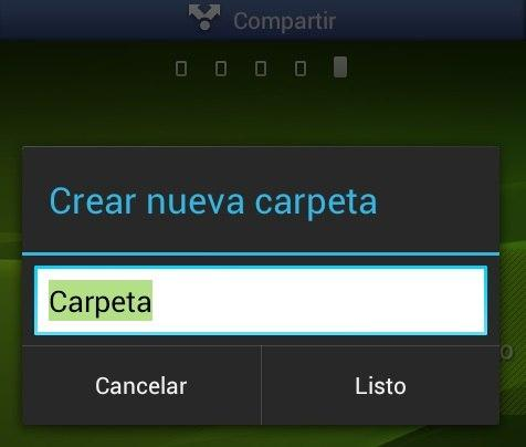 Crear nueva carpeta