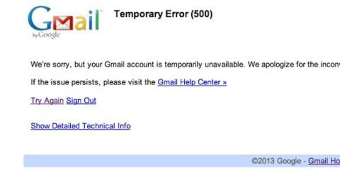 Gmail de Google sufre interrupción