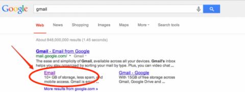 El primer resultado incluye un enlace que te lleva a componer un mail a Peck