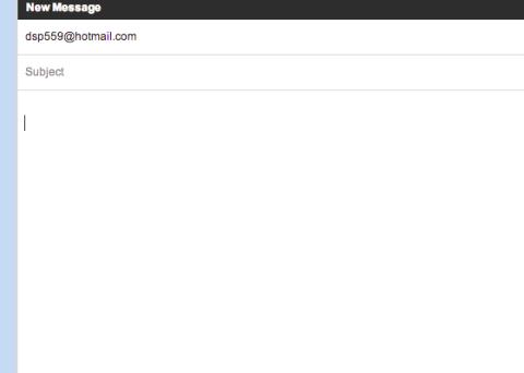 La dirección de correo electrónico de Peck aparece en la línea de destinatario