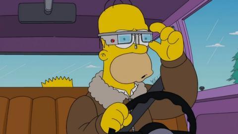 Nuevo episodio de Los Simpson Hommer parodia las gafas Google Glass