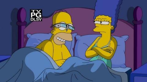 Homer Simpson con Google Glass