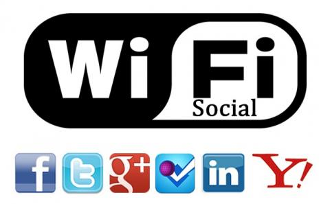 WiFi Social red WiFi redes sociales