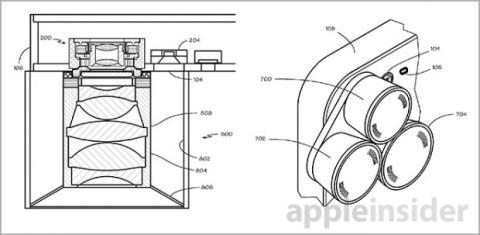 patente Apple tres lentes