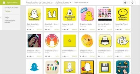 Apps de Snapchat en Google Play