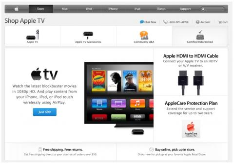 Apple TV en Apple Store online