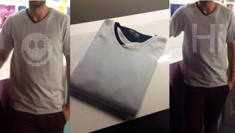 tshirtOS 2.0, camiseta con LEDs
