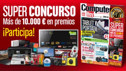 Super Concurso Computer Hoy 400. Más de 10.000 € en premios.