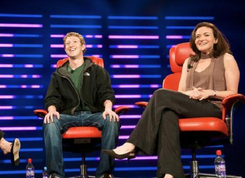 Zuckerberg Sandberg Facebook