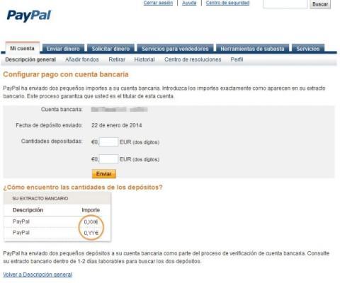 Verificar cuenta PayPal