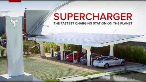 Tesla Model S supercargadores