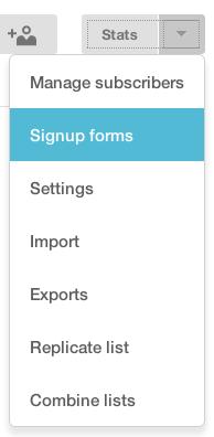 Formulario registro lista Mailchimp