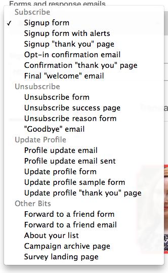 Formulario de registro Mailchimp