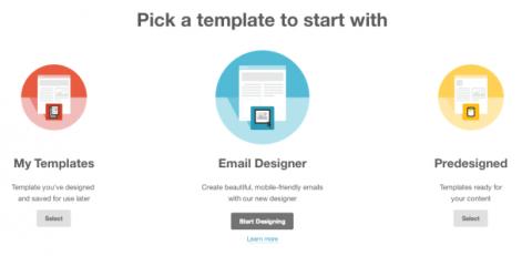 Diseñar campaña Mailchimp