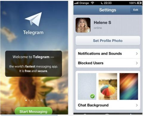 App mensajería instantánea Telegram español