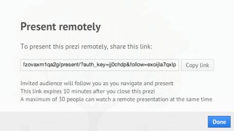 Presentar remotamente presentación Prezi