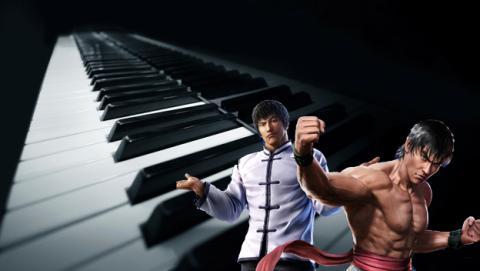 juega al Tekken con un piano
