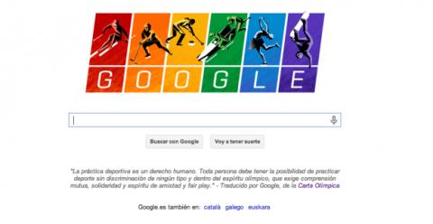 doodle de Google de apoyo a homosexuales