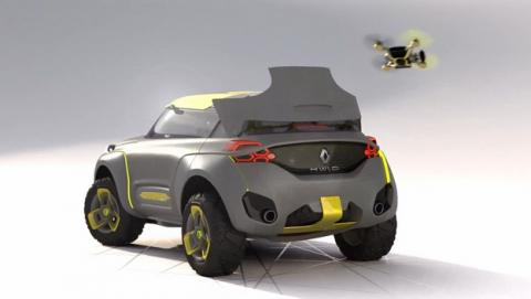 Renault Kwid, el nuevo vehículo de Renault con un dron volador incorporado