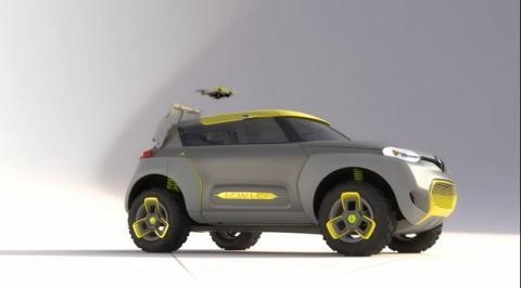Reanult Kwid con dron volador