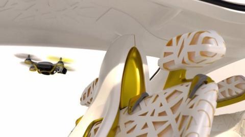 Renault Kwid con dron volador