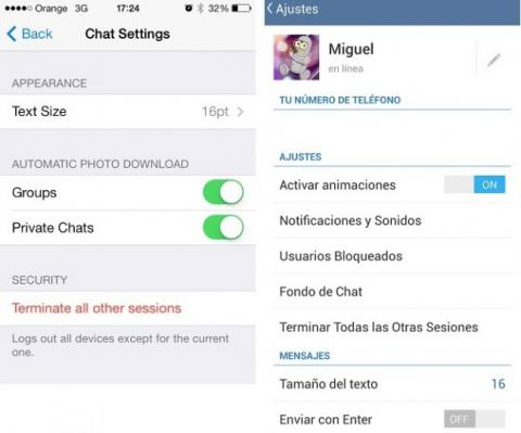 inconvenientes Telegram