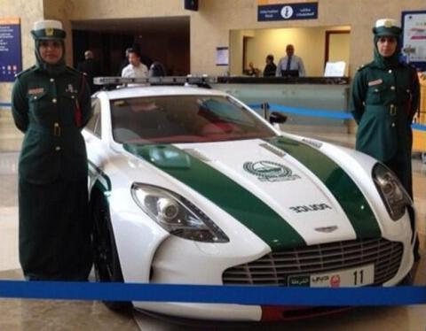 Super deportivos de la Policía de Dubai