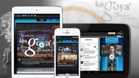 La gala de los Premios Goya 2014, en multipantalla en RTVE.es, también en tablets y smartphones